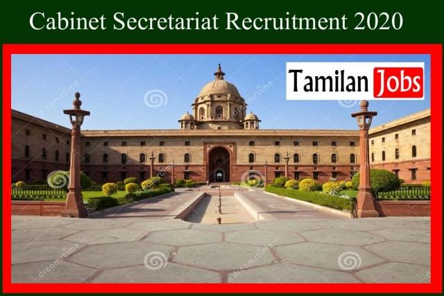 Cabinet Secretariat Recruitment 2020