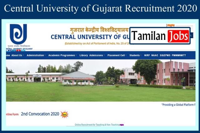Central University of Gujarat Recruitment 2020