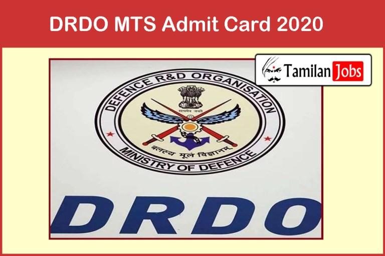 DRDO MTS Admit Card 2020, CEPTAM Multi Tasking Staff Exam Date @ drdo.gov.in