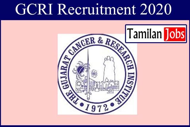 GCRI Recruitment 2020