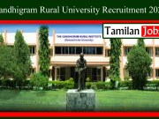 Gandhigram Rural University Recruitment 2020