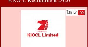 KIOCL Recruitment 2020