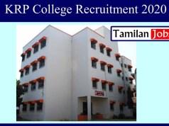 KRP College Recruitment 2020