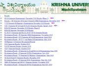 Krishna University Results 2020