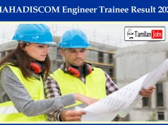 MAHADISCOM Engineer Trainee Result 2020