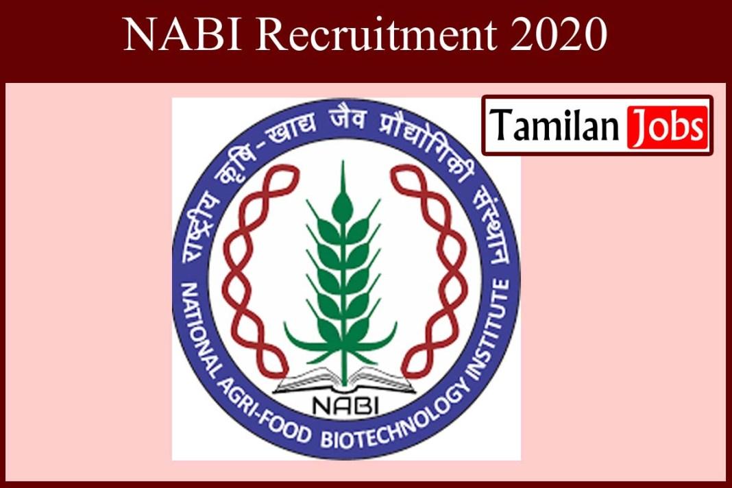 NABI Recruitment 2020