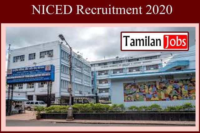 NICED Recruitment 2020