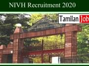NIVH Recruitment 2020