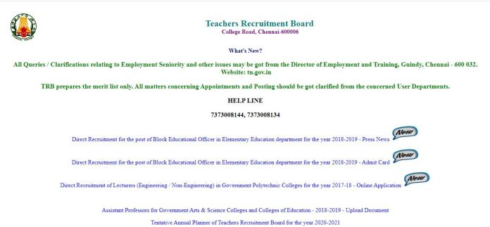 TN TRB BEO Answer Key 2020