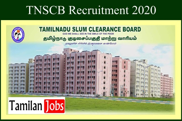 TNSCB Recruitment 2020
