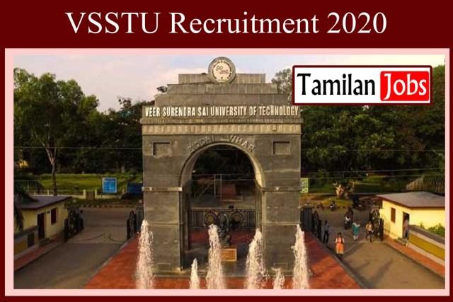 VSSTU Recruitment 2020
