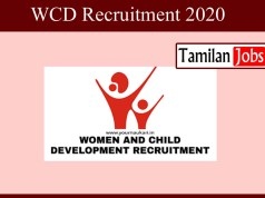 WCD Recruitment 2020