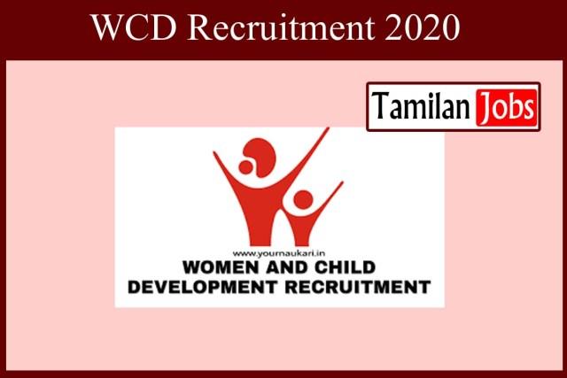 WCD Recruitment 2020