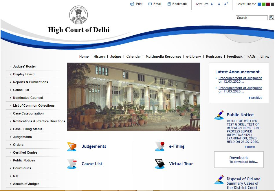 Delhi High Court Junior Judicial Assistant Admit Card 2020
