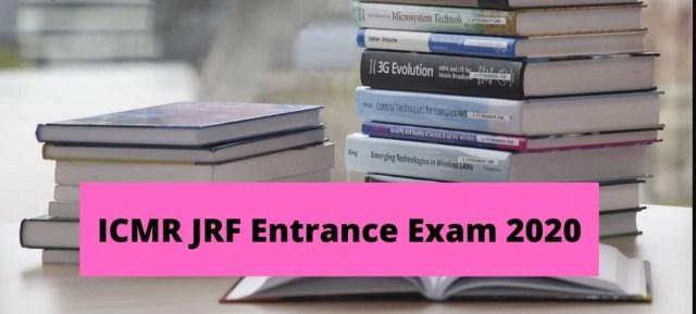 ICMR JRF Syllabus 2020 PDF