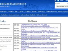 Kurukshetra University Assistant Professor Result 2020