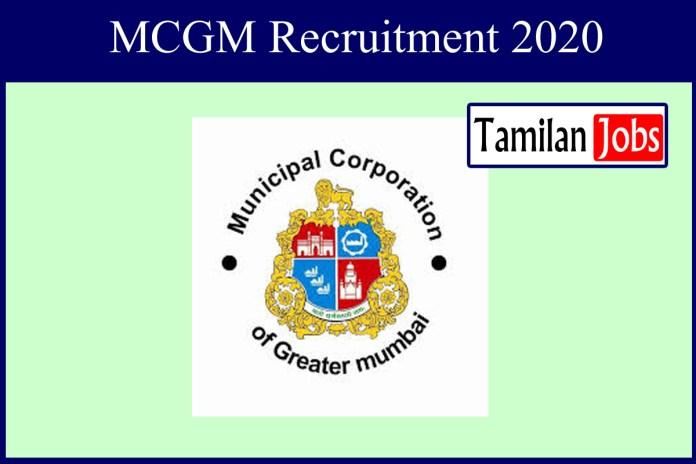 MCGM Recruitment 2020 Out – 150 Senior Lawyers Jobs