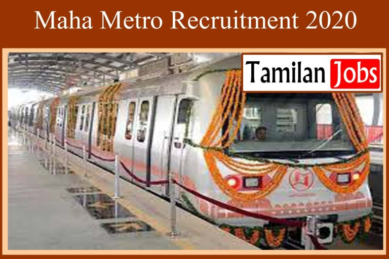 MAHA METRO Recruitment 2020 Out – Apply For Chief Project Manager Jobs