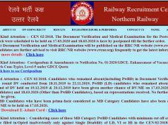 Northern Railway MTS Admit Card 2020
