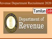 Revenue Department Recruitment 2020