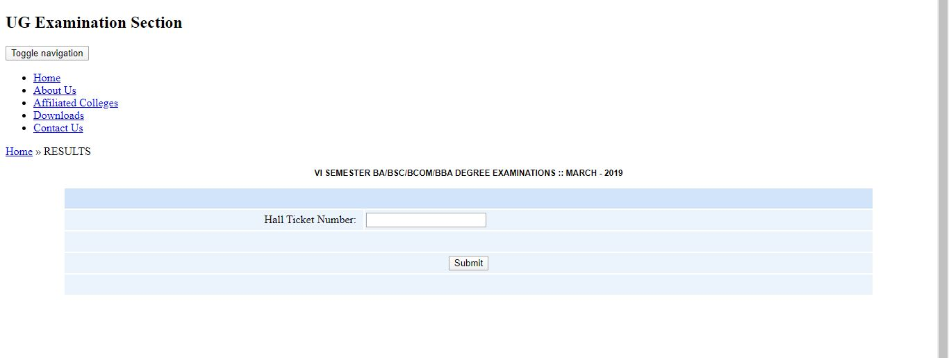 Sku Degree Result 2020 Out Download B A B Sc B Com Bba Result