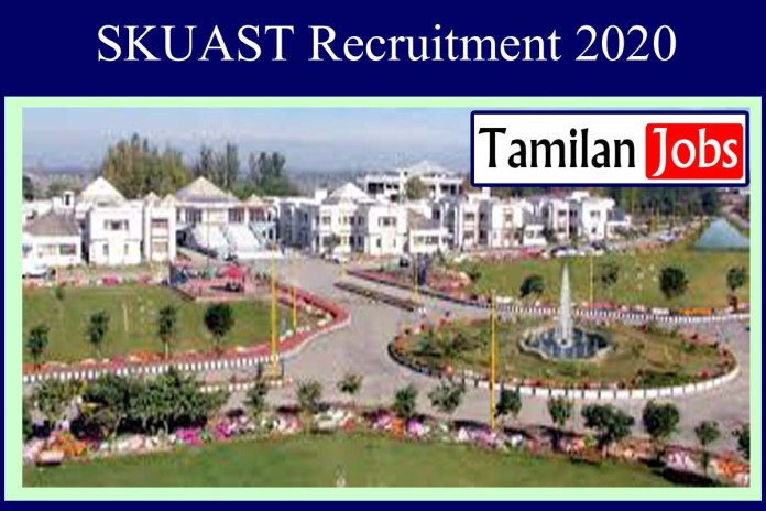 SKUAST Recruitment 2020