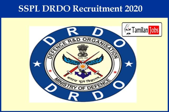 SSPL DRDO Recruitment 2020
