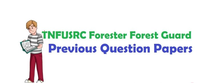 TN Forest Guard Previous Question Paper PDF | Model Question Paper