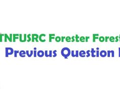 TN Forest Guard Previous Question Paper PDF
