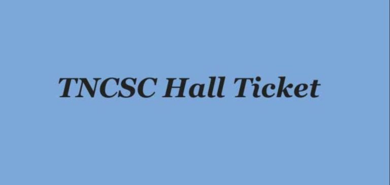 TNCSC Assistant Hall Ticket 2020 (OUT), Assistant Engineer Exam Date @ tncsc.tn.gov.in