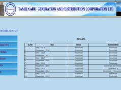 TNEB Departmental Exam Result 2020