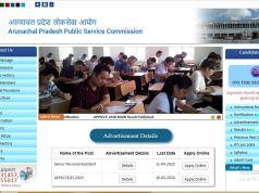 Arunachal Pradesh PSC Senior Personal Assistant Admit Card 2020