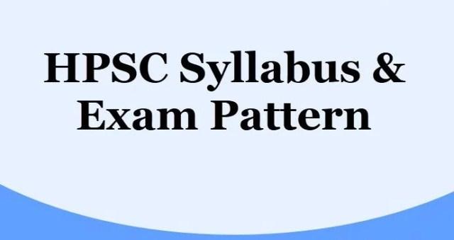 HPSC HCS Syllabus 2020