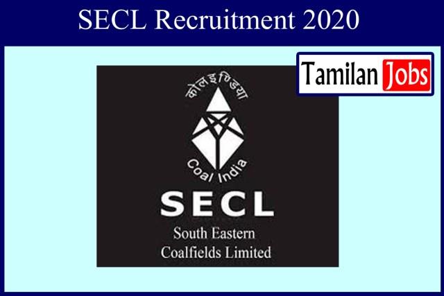 SECL Recruitment 2020