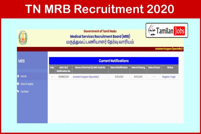 TN MRB Recruitment 2020 Out – Apply Online 14 Physician Assistant Jobs
