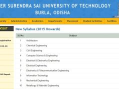 VSSUT M.Tech Syllabus 2020