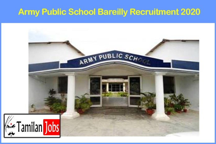 Army Public School Bareilly Recruitment 2020 Out | Degree Candidates Can Apply For Various PGT, TGT & Various Jobs