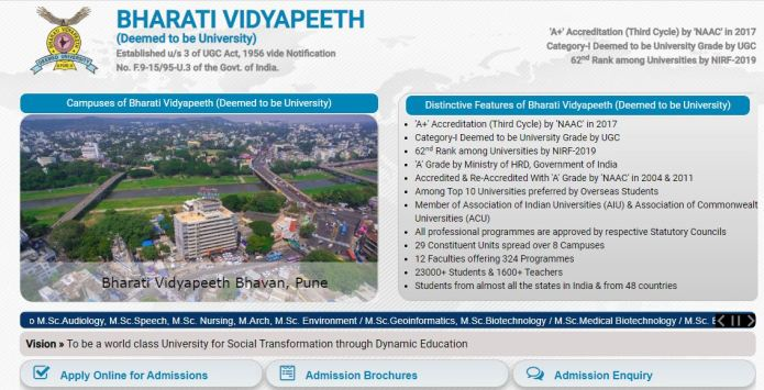 BVP CET Admit Card 2020 | Exam Date (Out) @ bharatividyapeeth.edu