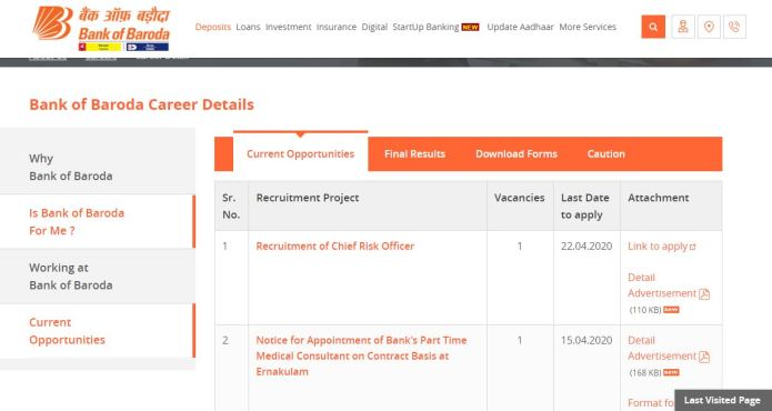 Bank of Baroda SO Result 2020 (OUT) | BOB Specialist Officers Cut Off , Merit List