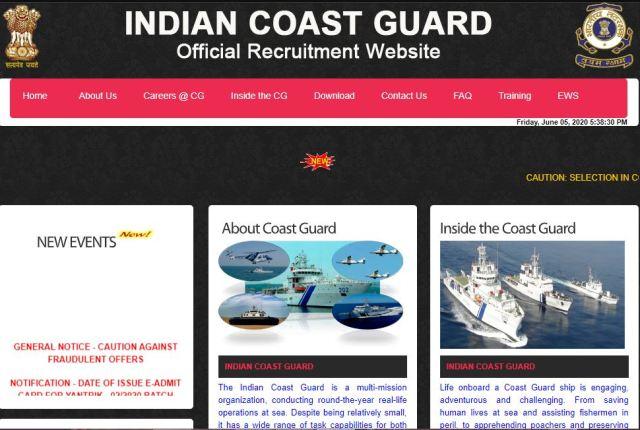 Indian Coast Guard Assistant Commandant Result 2020