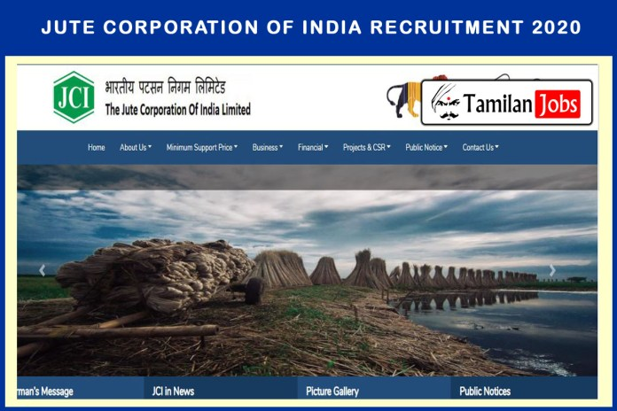 Jute Corporation of India Recruitment 2020 Out – Degree Completed Candidates Can Apply for 17 Assistant Manager Jobs