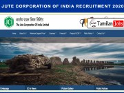 Jute Corporation of India Recruitment 2020