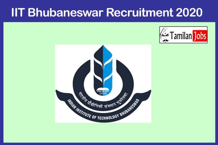 IIT Bhubaneswar Recruitment 2020 Out – Apply 32 Sports Officer Jobs
