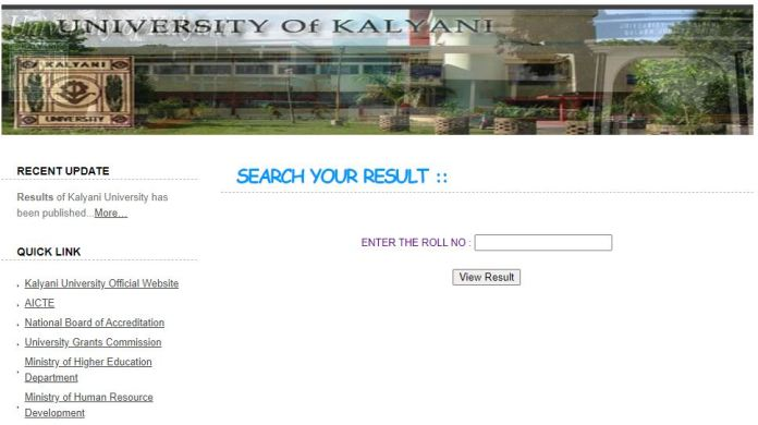 Kalyani University Result 2020 OUT @ klyuniv.ac.in | Part I,II,III UG / PG Results