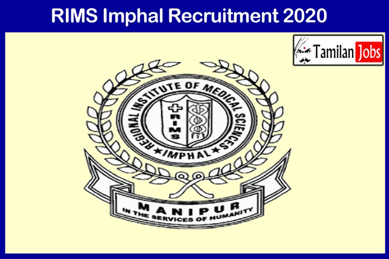 RIMS Imphal Recruitment 2020 Out – Apply 08 Stenographer Jobs