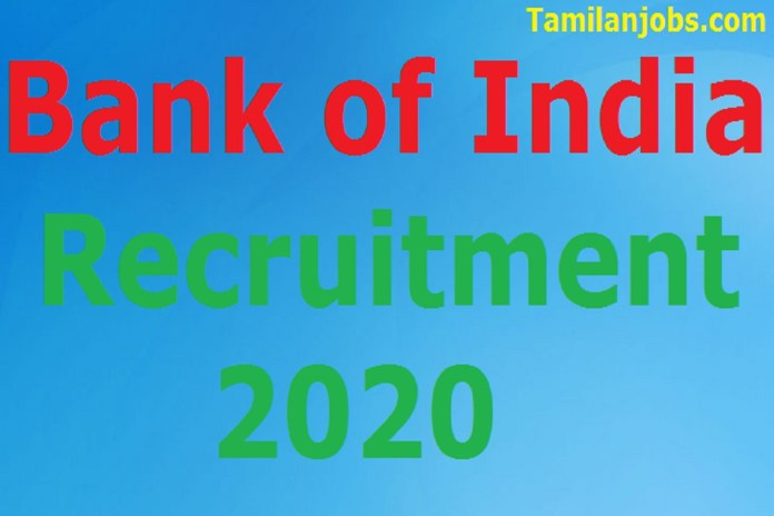 Bank of India Recruitment 2020 Out – Apply Online 28 Clerk, Officer Jobs