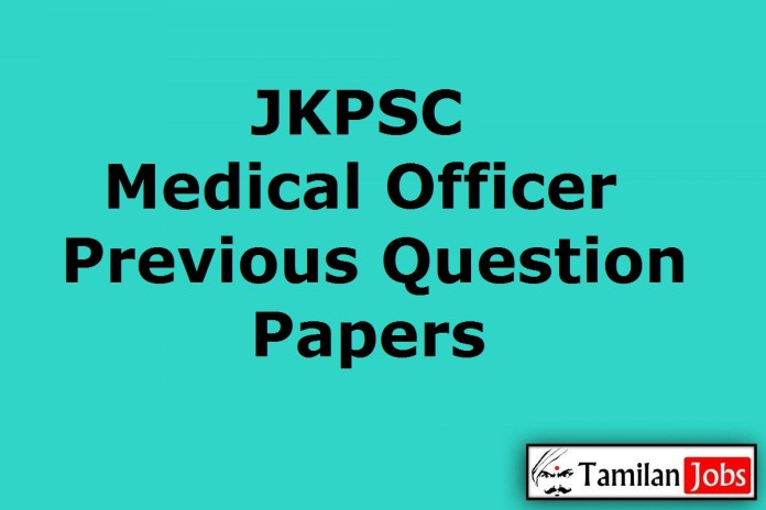 JKPSC Medical Officer Previous Question Papers