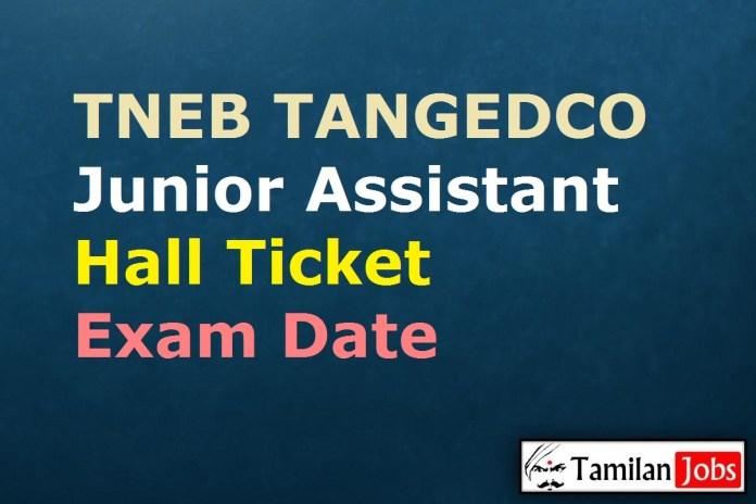 TNEB TANGEDCO Junior Assistant Hall Ticket 2020