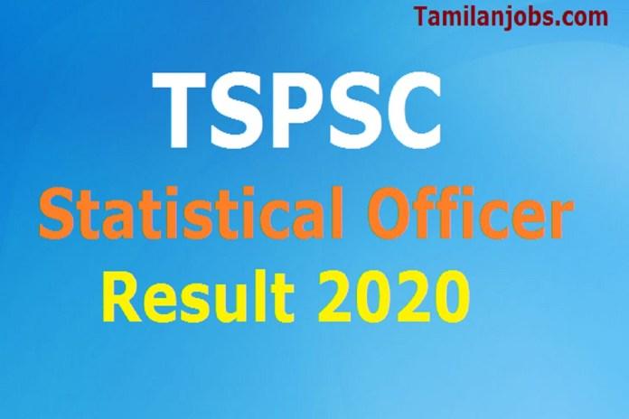TSPSC Statistical Officer Result 2020