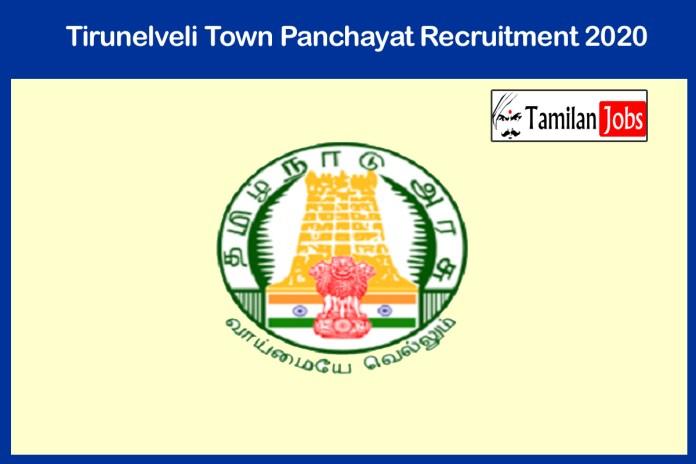 Tirunelveli Town Panchayat Recruitment 2020